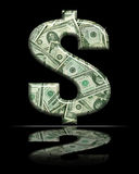 Signe 9 du dollar Photo stock