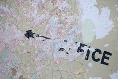 Signe abandonné de bureau Photos libres de droits