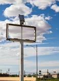 Signe abandonné et vide Photo stock