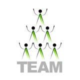 Signe abstrait d'équipe Image stock