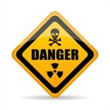 Signe abstrait de vecteur de danger illustration de vecteur