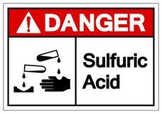 Signe acide sulfurique de symbole de danger, illustration de vecteur, isolat sur le label blanc de fond EPS10 illustration libre de droits