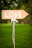 Signe affichant le sens à l'amour Images libres de droits