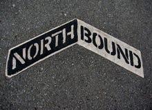 Signe allant vers le nord Photos stock