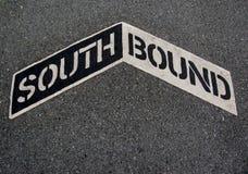 Signe allant vers le sud Images libres de droits