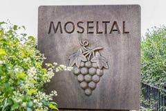 Signe Allemagne de vallée de la Moselle Photo stock