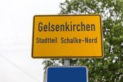 Signe Allemagne de ville de schalke de Gelsenkirchen Photographie stock