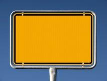 Signe allemand commun de ville, nom retiré Photo stock