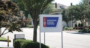 Signe américain d'Association du cancer Photo stock