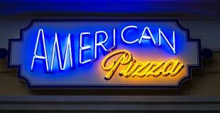 Signe américain de pizza Photographie stock