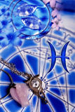 Signe astrologique Poissons Image stock