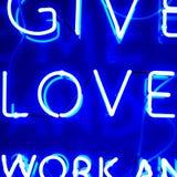 Signe au néon d'amour Images libres de droits