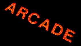 Signe au néon d'arcade Photographie stock