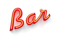 Signe au néon de bar Photo stock