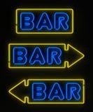 Signe au néon de bar Images stock