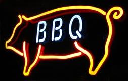 Signe au néon de barbecue Image libre de droits