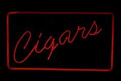 Signe au néon de cigares Photo libre de droits