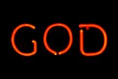 Signe au néon de Dieu Photo libre de droits