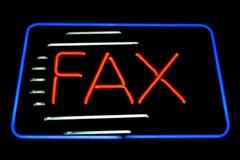 Signe au néon de fax Image libre de droits
