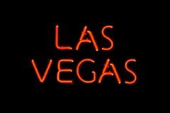 Signe au néon de Las Vegas Image libre de droits