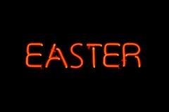 Signe au néon de Pâques Image libre de droits