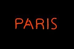 Signe au néon de Paris Images libres de droits