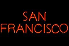 Signe au néon de San Francisco Images libres de droits