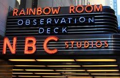 Signe au néon de studio de NBC Images stock