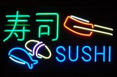 Signe au néon de sushi Photo libre de droits