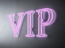 Signe au néon de VIP Images stock