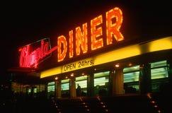 Signe au néon de wagon-restaurant Image libre de droits