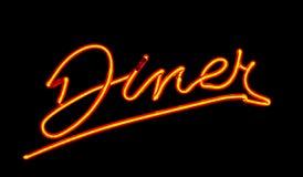 Signe au néon de wagon-restaurant Photos libres de droits