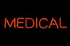 Signe au néon médical Photographie stock libre de droits