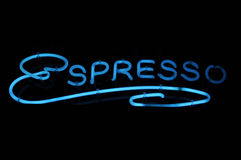 Signe au néon de café express Image stock