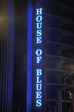 Signe au néon de House Of Blues Image libre de droits