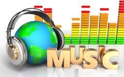 signe audio de musique du spectre 3d Photo libre de droits