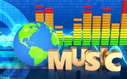 signe audio de musique du spectre 3d Photos libres de droits