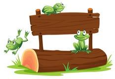 Signe avec la grenouille Image stock