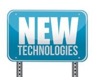 Signe avec un concept de nouvelles technologies Images libres de droits