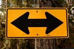 Signe bi-directionnel Images libres de droits