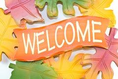 Signe bienvenu. Photos libres de droits