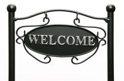 Signe bienvenu Image stock