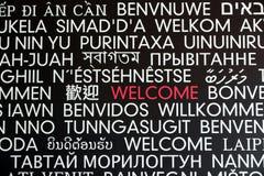 Signe bienvenu Image libre de droits