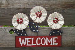Signe bienvenu americana Photos libres de droits