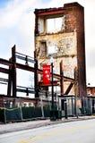 Signe bienvenu avec la dégradation urbaine Image libre de droits
