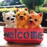 Signe bienvenu de chien photo libre de droits