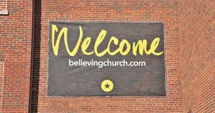 Signe bienvenu de croyance Memphis, TN d'église image stock
