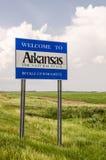 Signe bienvenu de l'Arkansas Photographie stock libre de droits