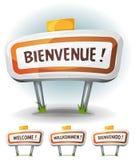 Signe bienvenu de ville ou de ville Image libre de droits