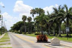 Signe bienvenu des îles de palmier royal Images libres de droits
